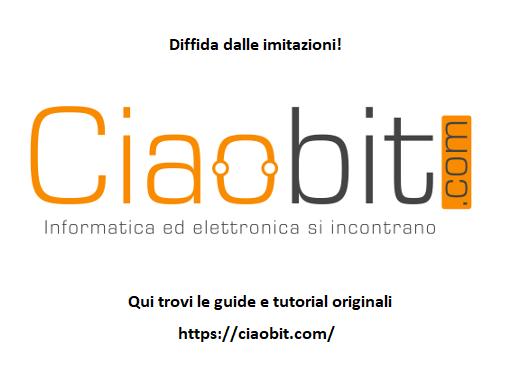 CiaoBitHome v1.0 schema su breadboard